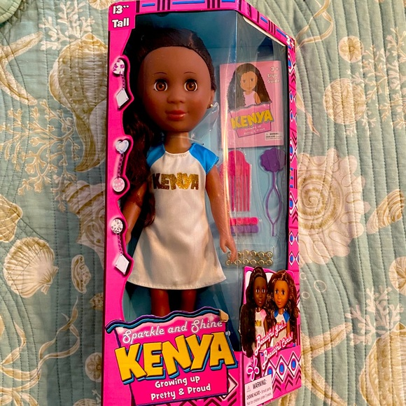 Sparkle And Shine Growing Up Pretty and Proud Kenya Doll 13 inch